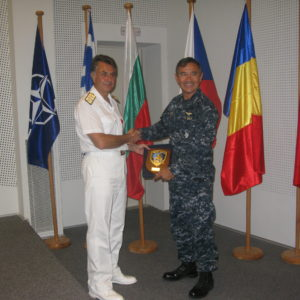 26 Aug 2011 Visit of STRIKFORNATO - C6F Commander